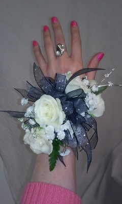 White Rose Wrist Corsage from Aletha's Florist in Marietta, OH